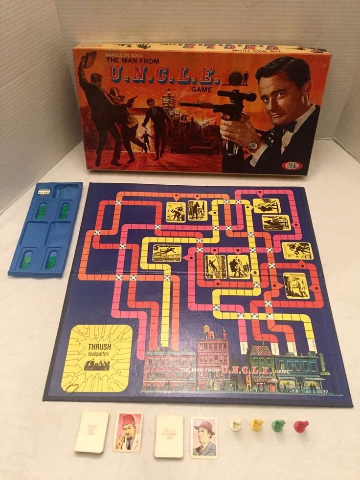 1965 IDEAL Vintage THE MAN FROM UNCLE Boardgame w/BOX