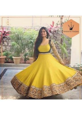 Bollywood Replica - Shravya Verma Designer Yellow Anarkali Suit - SV