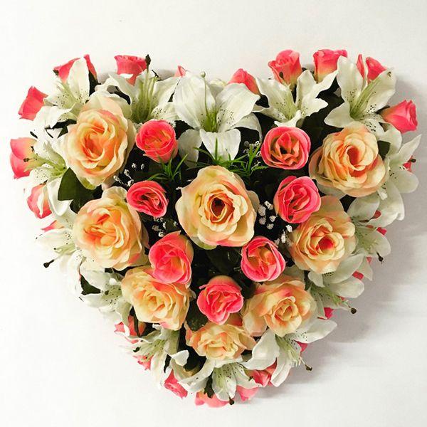 1000 id es sur le th me fleurs artificielles sur pinterest plantes artifici - Coeur fleurs artificielles ...