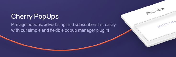 Cherry PopUps //  Cherry PopUps is a powerful and extremely useful plugin which allows you to create customizable pop-up windows and manage them effectively.    #WordPress #plugins #CherryFramework #popup #wordpressplugins
