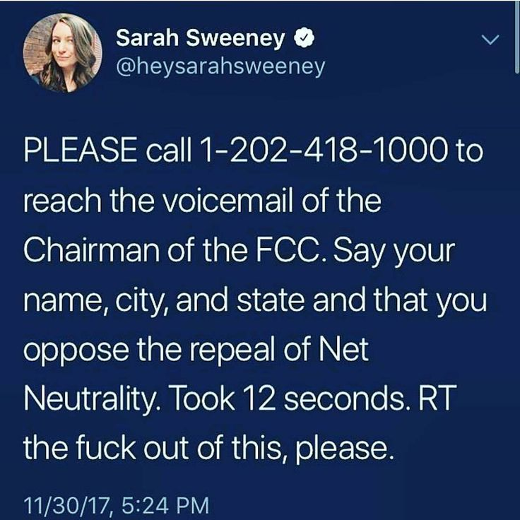 "Do it! Please! Save net neutrality! ""Unless you get all your news from Trump tweets and Fox and Sinclair news, then don't bother, you already don't care who controls where your information comes from, that your first amendment rights are being violated, nor do you actually want to know any thing other than your own echos."""