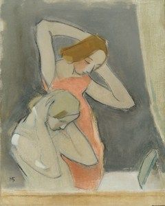 Helene Schjerfbeck (Helsinki 1862-1946 Saltsjöbaden)  Before the Mirror  Oil on canvas  85 x 69 cm  Signed 'HS'