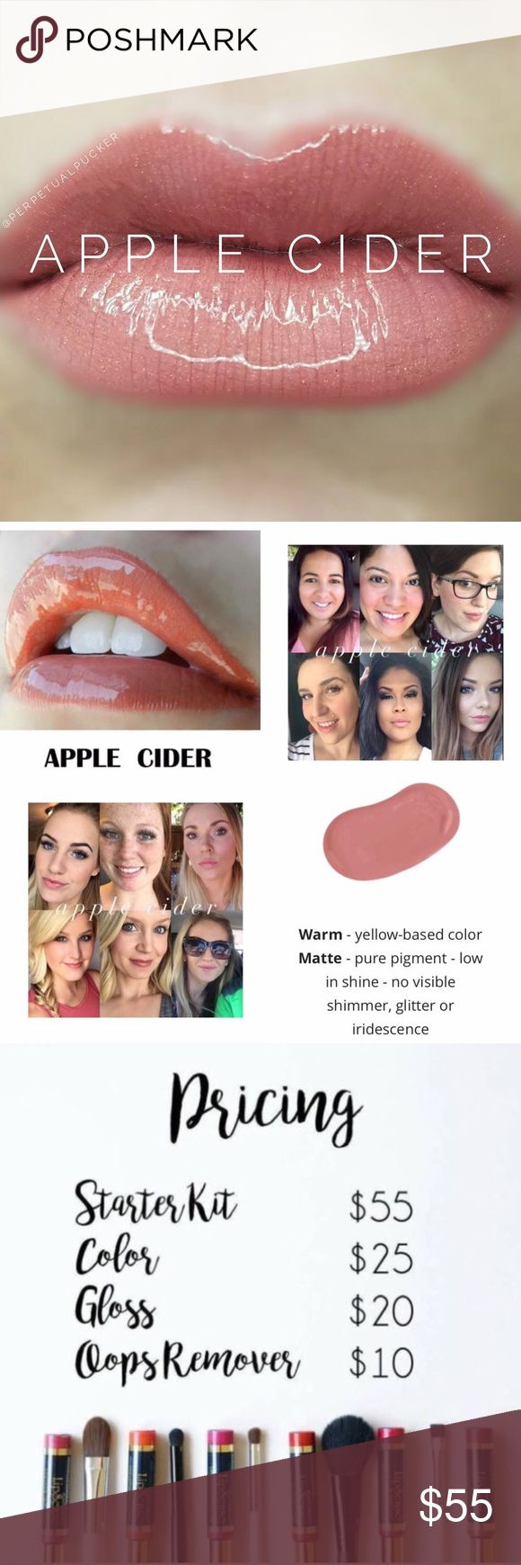 🎉 Lipsense Apple Cider 💋 Authentic🌟New & Sealed 💋 Wayyy better than lipstick 💄 Lipsense🌟 Apple Cider color ONLY! 🍎🥂  If already have a set this is perfect for you! Great💰 If new to Lipsense I definitely recommend getting a starter kit;  An amazing Lipsense starter kit includes color, gloss and remover! Ex: Apple Cider+Glossy+Oops  I have Gloss,Oops & starter kits in separate listing!💋 Lipsense Makeup Lipstick