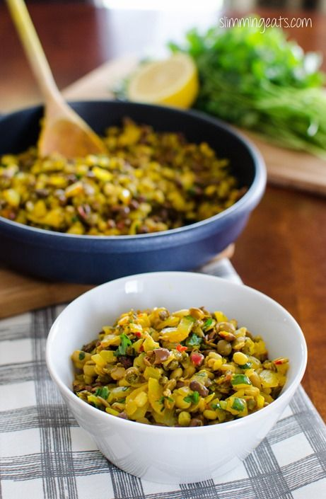 Ginger Spiced Sprouted Bean Trio   Slimming Eats - Slimming World Recipes