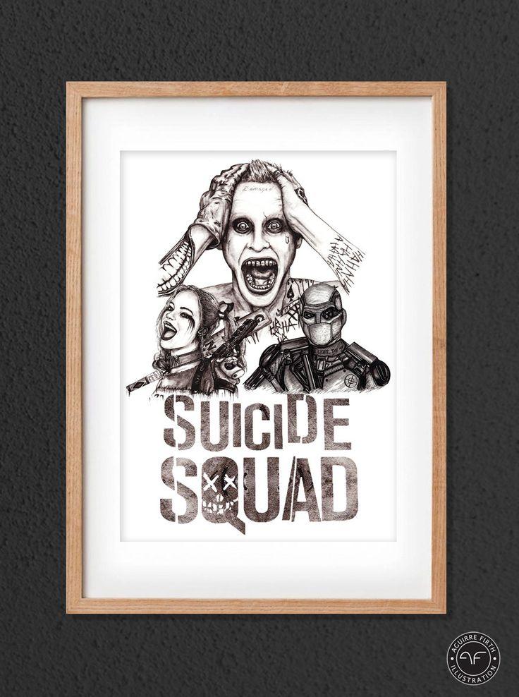 """Suicide Squad Print"" by Aguirre Firth Illustration   SHOP:  www.aguirrefirth.com  Follow on:  Instagram: www.instagram.com/aguirrefirth Twitter: www.twitter.com/aguirrefirth"