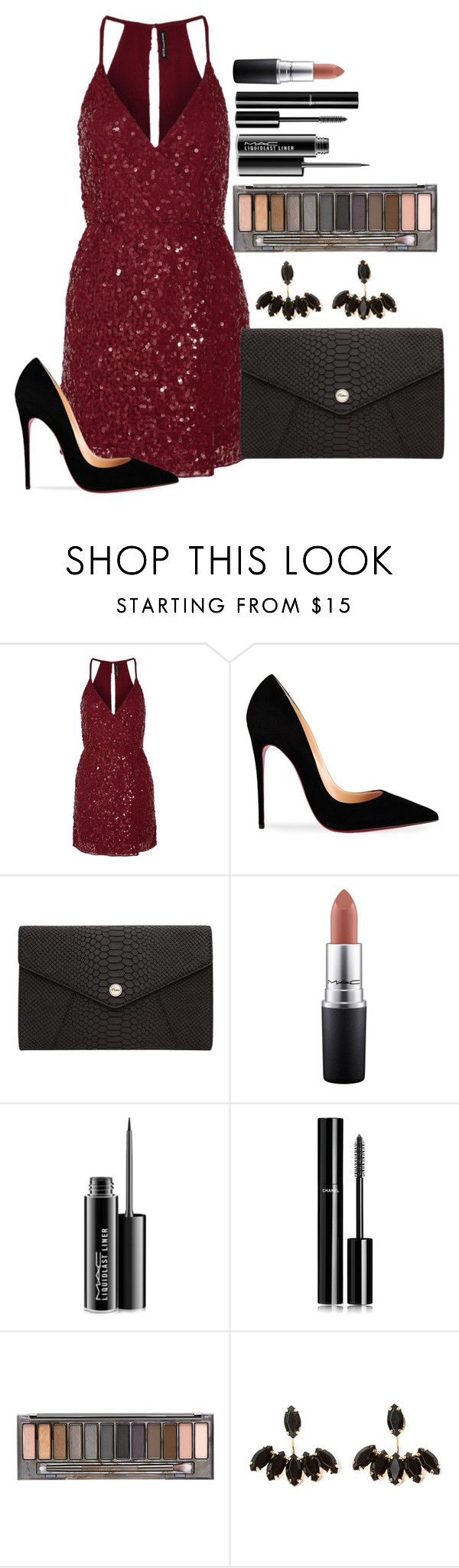 """Untitled #1341"" by fabianarveloc on Polyvore featuring W118 by Walter Baker, Christian Louboutin, Oroton, MAC Cosmetics, Chanel and Urban Decay"