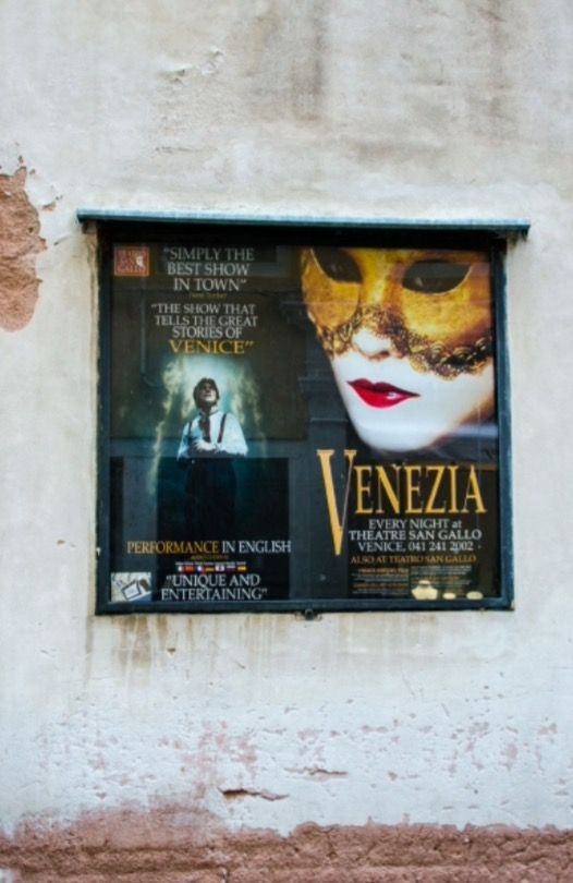 """This theater announcement is from our feature """"48 hours in Venice"""""""