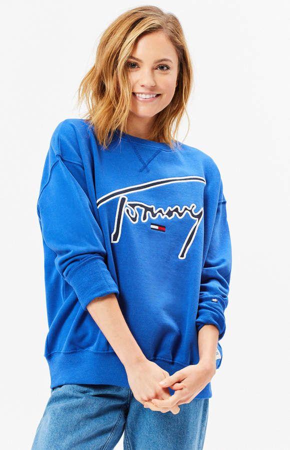 Tommy Jeans Signature Crew Neck Sweatshirt  8bc7544b0ea9e