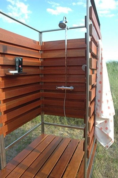 outdoor shower, could be nice for summer/beach house