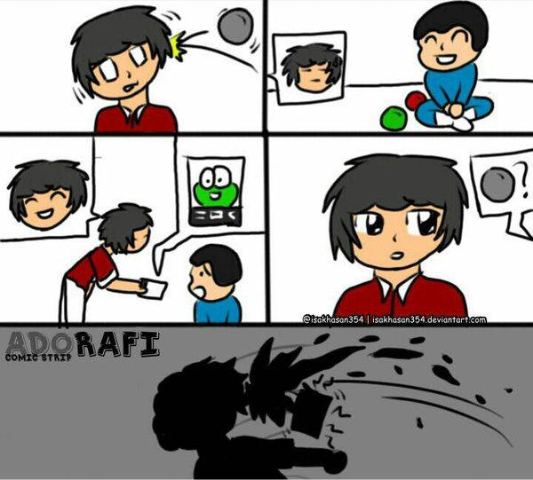 That's not how it work you little sh*t - Adorafi Comic Strip by isakhasan354