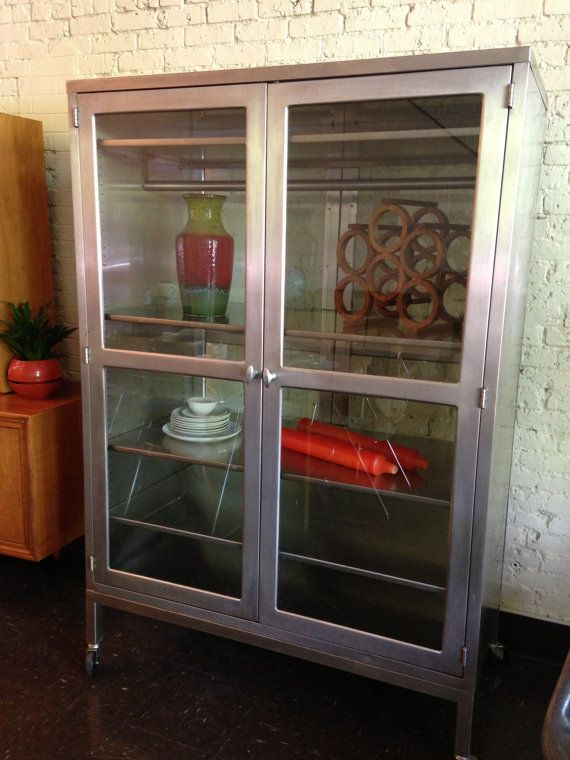 Vintage Blickman Medical Cabinet By Midcenturyville On