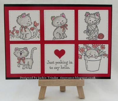 Tinyrose's Craft Room: My Makes from the Charity Craft Day made with the Pretty Kitty stamp set from Stampin up