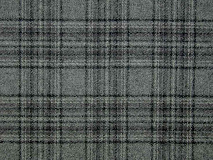 Stirling Wool Tartan Check Grey Black Curtain & Upholstery Fabric - The Millshop Online #curtain #wool #tartan