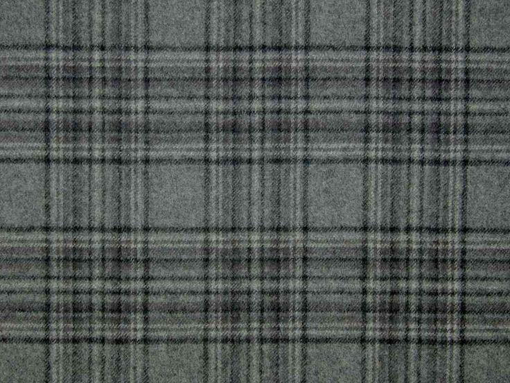 Stirling Wool Tartan Check Grey Black Curtain Upholstery Fabric The Millshop Online Curtain