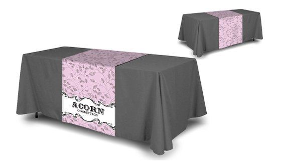 Astounding Custom Company Table Runner With Bottom Table Cloth Home Remodeling Inspirations Cosmcuboardxyz