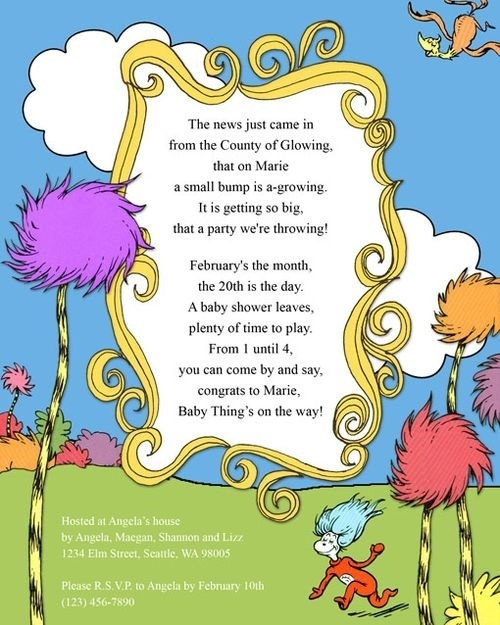 55 best Dr seuss invites printables images on Pinterest Baby