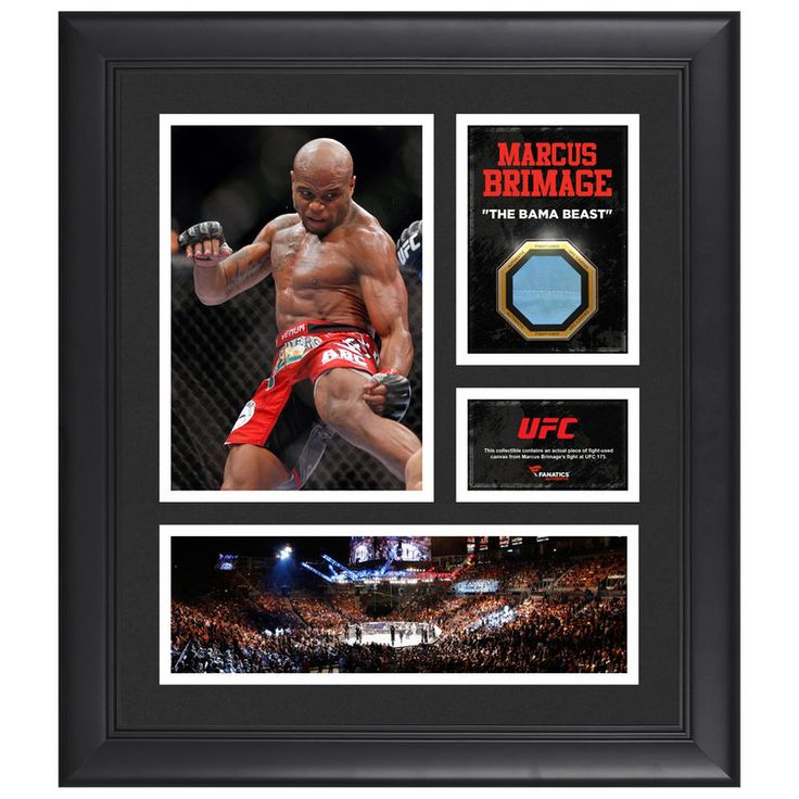 "Marcus Brimage Ultimate Fighting Championship Fanatics Authentic Framed 15"" x 17"" Collage with Piece of Match-Used Canvas from UFC 175"