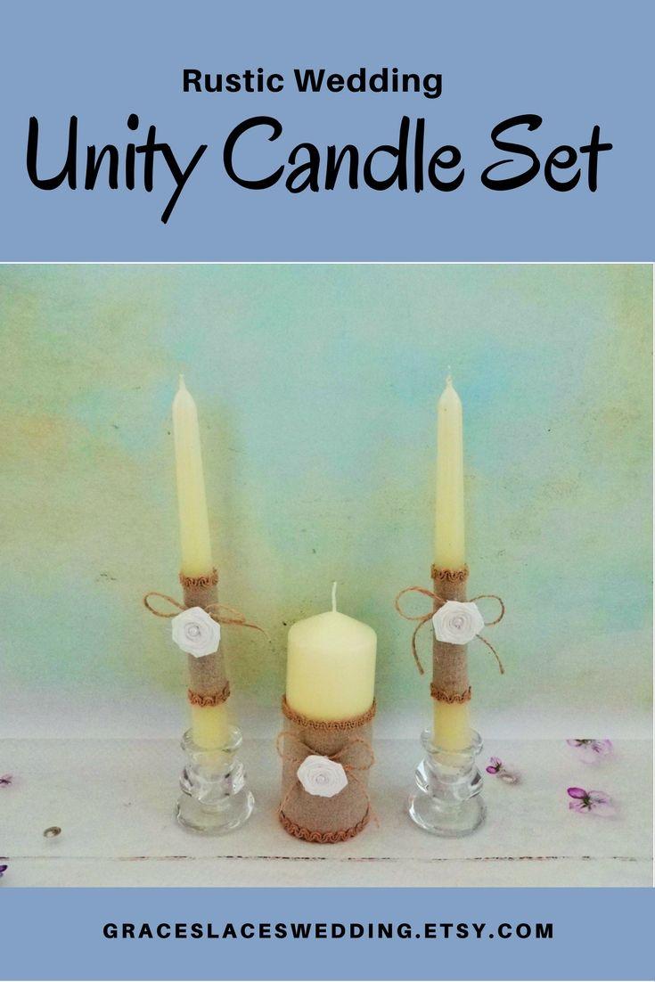 Rustic wedding unity candle set #unitycandles #unityceremony #rusticwedding #bohowedding #unitycandleset