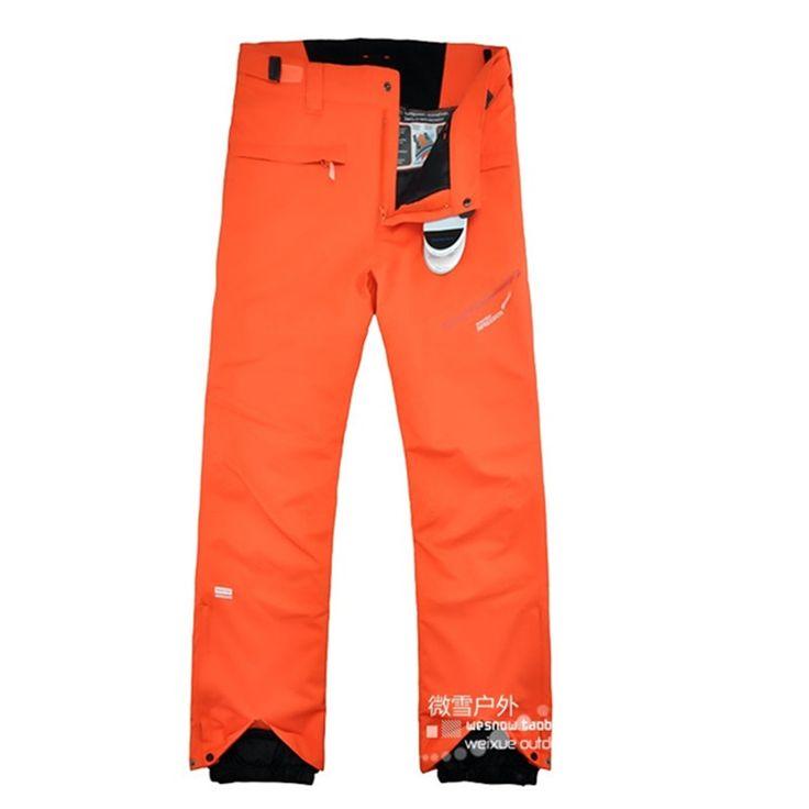 74.85$  Buy now - http://ali008.worldwells.pw/go.php?t=32779370143 -  2016 winter skiing pants men orange snowboard pants men ski wear outdoor snowboarding pants pantalon ski homme esquis