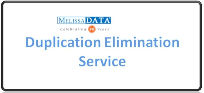 Duplicate File Remover | Data Deduplication Software in US | Melissa Data  Data Deduplication Software - Melissa Data helps you in identify and eliminates duplicate files from your database and reduces unnecessary printing, postage, inventory, and costs. Contact Now!  http://www.melissadata.com/dm/data-services/duplicate-elimination.htm