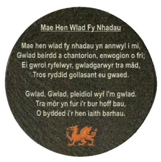 Slate Magnet - Welsh National Anthem