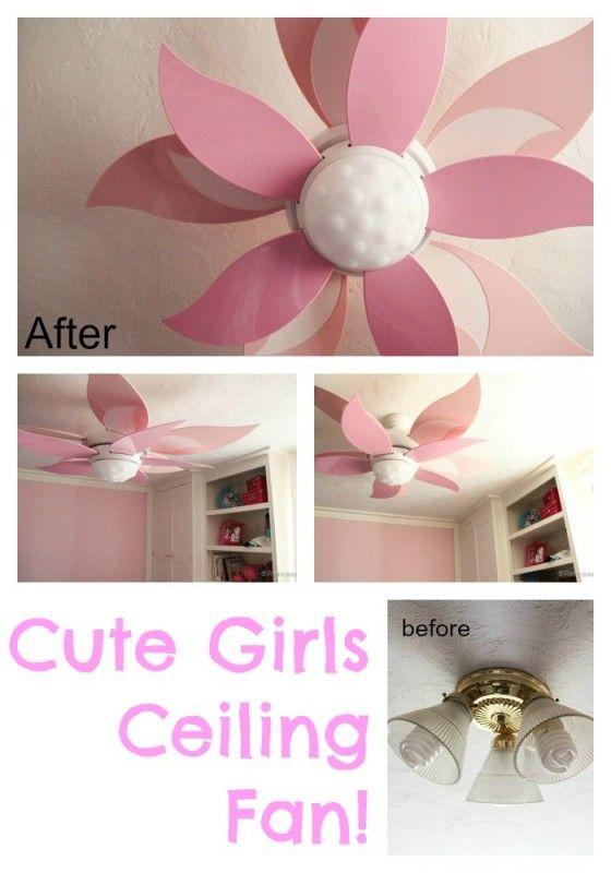 ceiling fans for girl bedroom | Roselawnlutheran