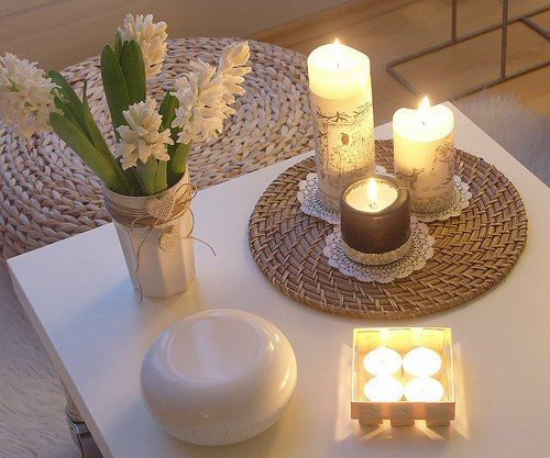 Soft candles create lovely ambience in any meditation area #binaural-beats #binaural-beats-meditation #meditation-space