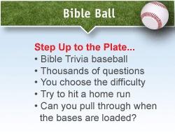 Play Free Online Bible Baseball Trivia Game