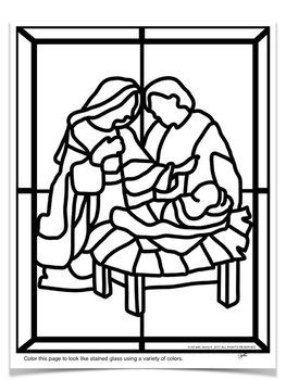 stained glass christmas nativity scene coloring pages holidays pinterest christmas christmas nativity scene and christmas nativity