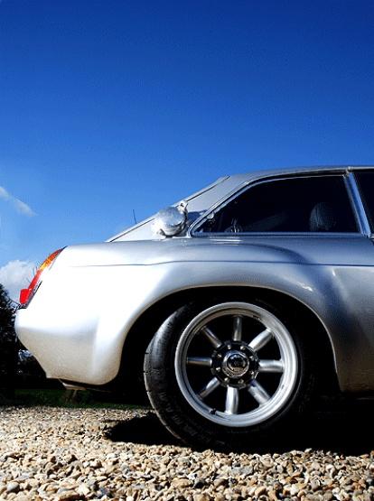 Mega Aston petrol filler on MG Motorsport MGC GT Sebring replica (© Gerard Hughes)