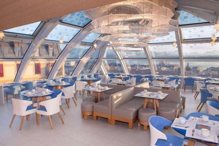Hertrich ve Adnet tasarım ofisi tarafından tasarlanan Swiss Night oteli yenileme projesidir. Projenin bulunduğu yer sıkışık bir şehir olduğu için bina içindeki restaurant tamamen cam  kafes ile sarılmıştır.