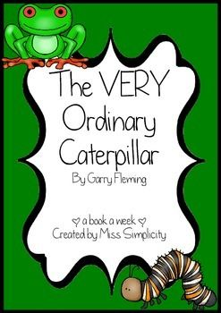The Very Ordinary Caterpillar reading activities.
