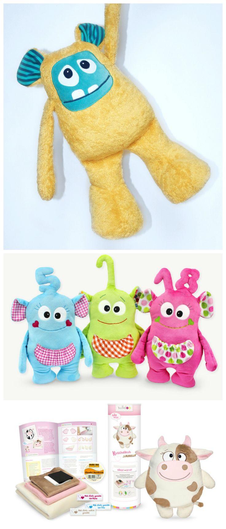 Süße Nähanleitungen für Kuscheltiere, als E-Book oder direkt als Komplettpaket mit Stoff / sewing patterns: cute soft toy diy-kits made by kullaloo via DaWanda.com