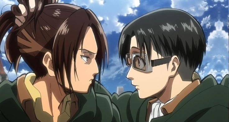 Levi looks like a hipster, and hanji looks like how I stare at everyone at school.