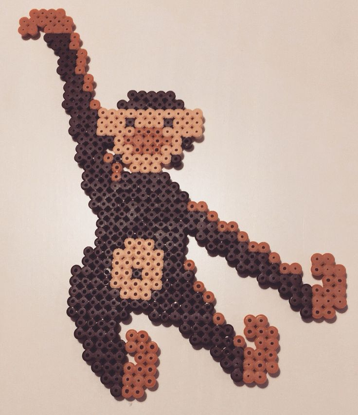 Kay Bojesen monkey :-) #hama #hamaperler #hamabeads #perlerbeads #perler #monkey #diy