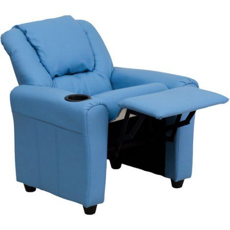 Flash Furniture Kids' Vinyl Recliner with Cupholder and Headrest, Multiple Colors - Walmart.com