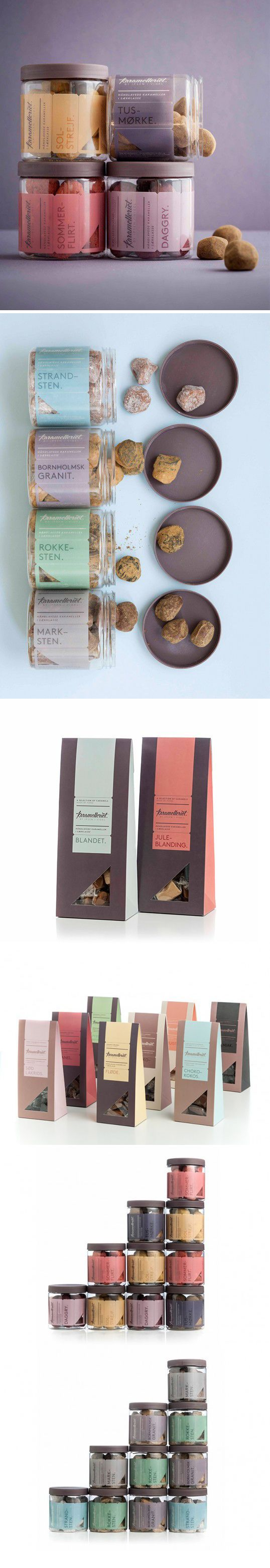 Chocolate #packaging design. Great colors palette http://lovelypackage.com/karamelleriet/