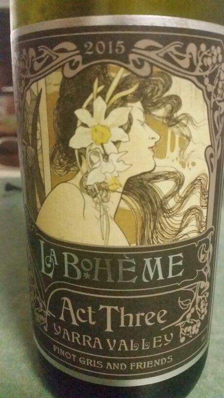 La Boheme Act Three Yarrah Valley Pinot Gris blend