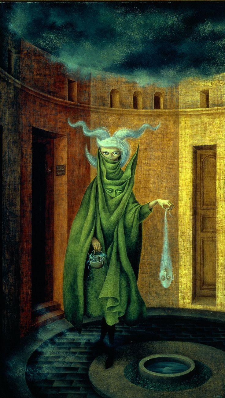 1960-Mujer saliendo del psicoanalista Remedios Varo, Pintora Surrealista