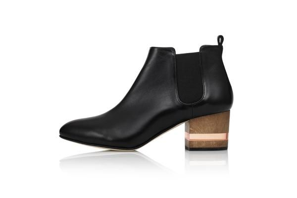 Sleek mid-height chelsea boots       Description    The FLOAT boots feature a timeless silhouette, complimented by the signature Dear Frances Float Heel. Hand-crafted in Italy, using artisan techniques and supple black nappa leather throughout, they're your go-to staple for night and day.    Details    Black nappa leather upper Leather insole, lining, sock and outsole  Block heel, 5.5cm + perspex layers Hand stitched. Made in Italy  Free express international shipping    Size & Fit  ...