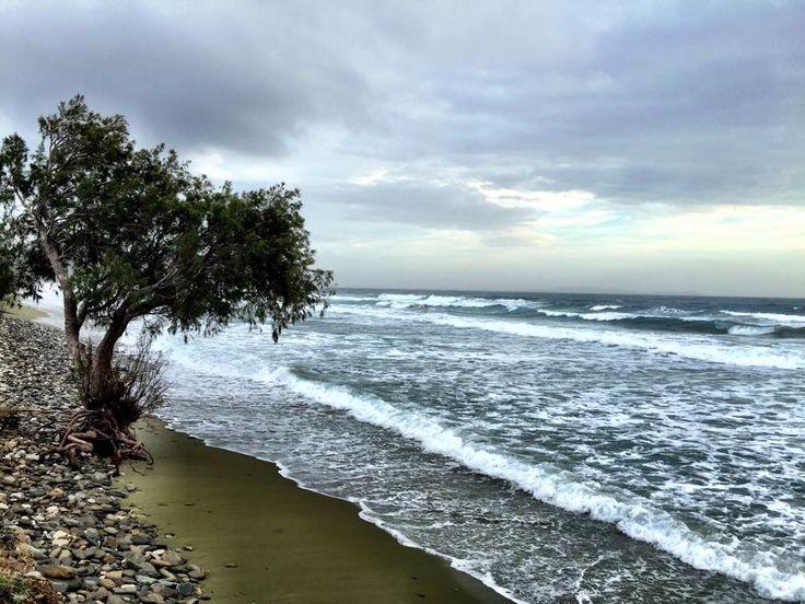 January at Agios Fokas beach Ιανουάριος, στον Άγιο Φωκά.