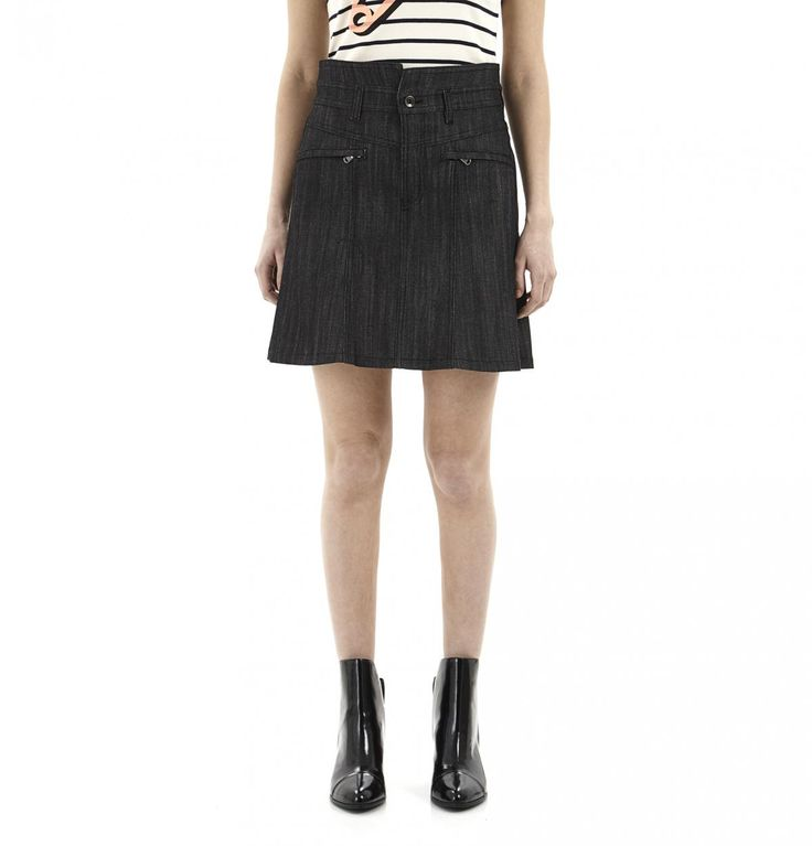 Grey Jean Skirt