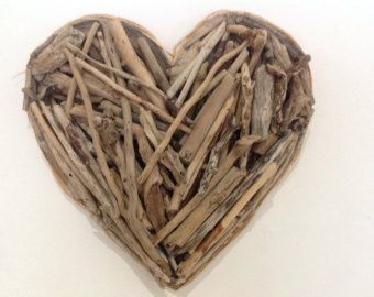 driftwood heart Valentine Nr.1 made from natural by Yalos on Etsy