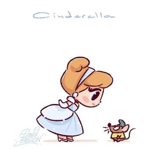 Personagens Disney e amigos em estilo chibi