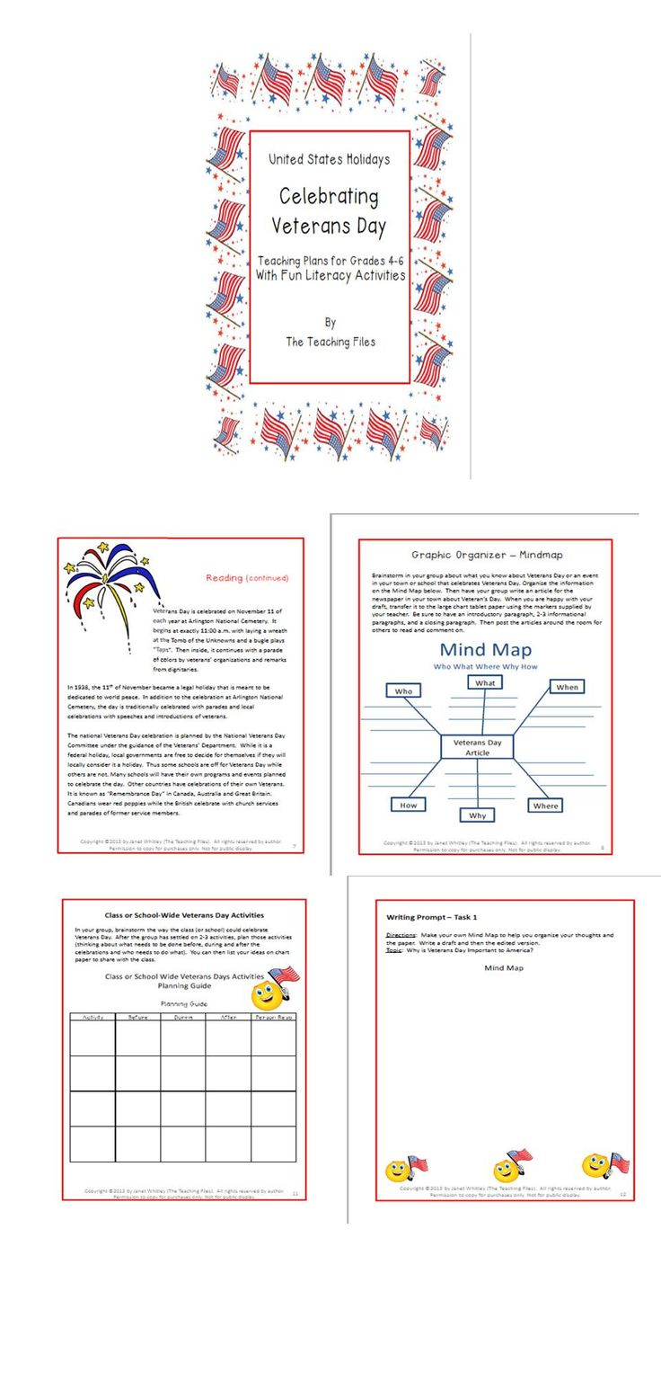 17 best images about veteran s day remembrance day this delightful lesson plan packet on veteran s day for grades 4 6 is designed for