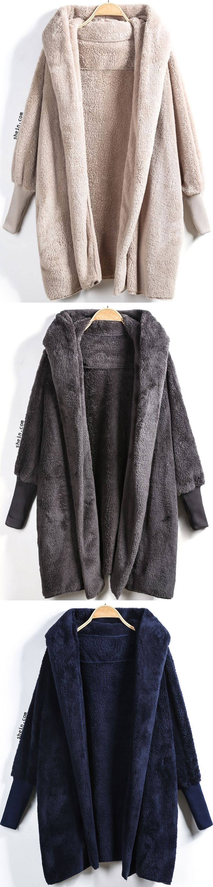 Hooded Long Sleeve Loose Cardigan