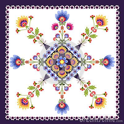Floral pattern folk by Bridzia, via Dreamstime