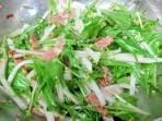 ごま油と塩のみで!シンプル水菜大根サラダ レシピ・作り方 by jackychappy|楽天レシピ