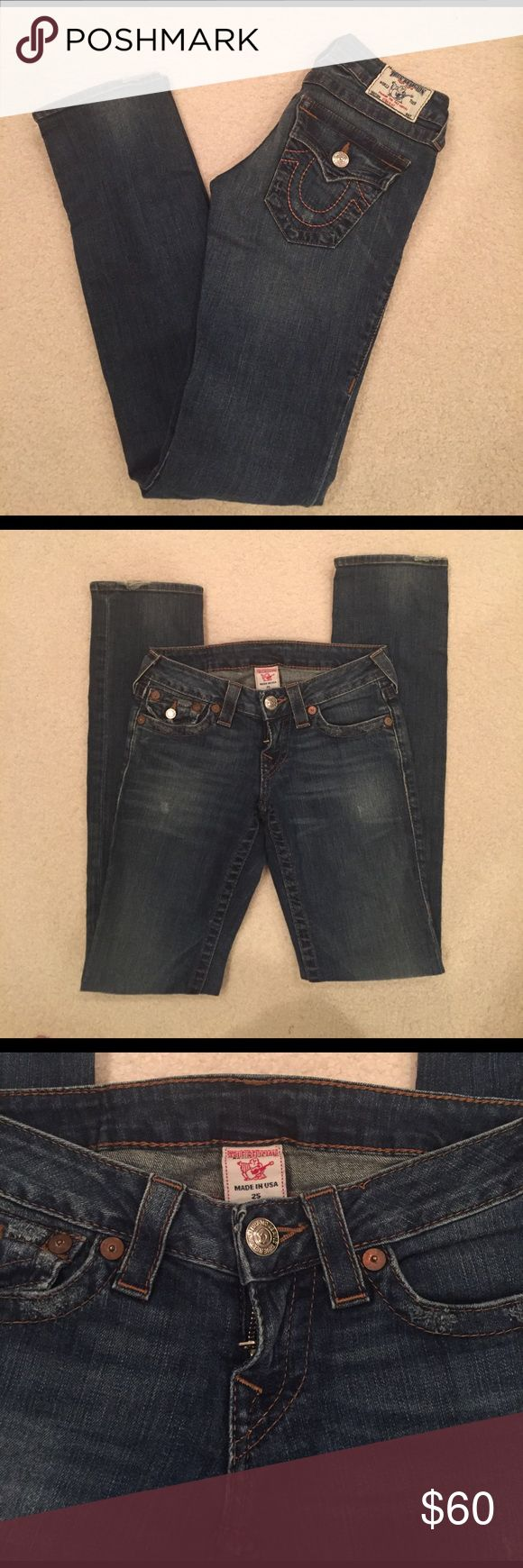 "Sale TODAYCute!True Religion Straight Jeans Cute!! True Religion Straight Leg Jeans. Inseam Approximately 31"" Worn With Love True Religion Jeans Straight Leg"