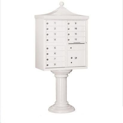 Regency Decorative CBU (Includes CBU, Pedestal, CBU Top, Pedestal Cover - Tall and Master Commercial Locks) - 12 A Size Doors - Type II - White - Private Access by Salsbury Industries. $1681.14. Salsbury 3300 series USPS approved Cluster Box Units (CBU's) are accessed from the front through two (2) opening master door panels. The durable and corrosion resistant units feature a powder coated finish. Each CBU includes one or two (2) fully integrated parcel lockers a...